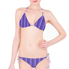 Surf Purple Stripe Bikini