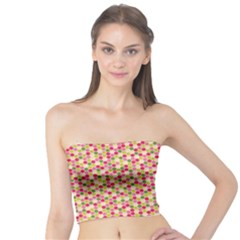Pink Green Beehive Pattern Tube Top