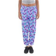 Purple Blue Cubes Women s Jogger Sweatpants