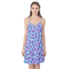 Purple Blue Cubes Camis Nightgown