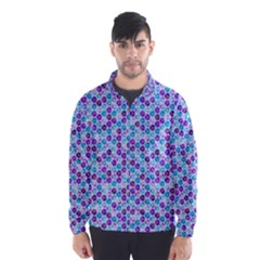 Purple Blue Cubes Wind Breaker (Men)