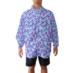Purple Blue Cubes Wind Breaker (Kids)