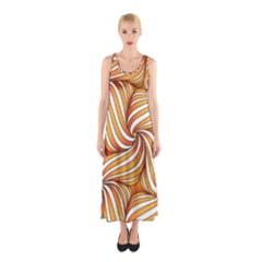 Sunny Organic Pinwheel Full Print Maxi Dress