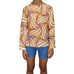 Sunny Organic Pinwheel Kid s Long Sleeve Swimwear