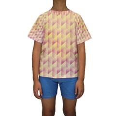 Geometric Pink & Yellow  Kid s Short Sleeve Swimwear