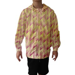 Geometric Pink & Yellow  Hooded Wind Breaker (kids)