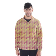 Geometric Pink & Yellow  Wind Breaker (Men)