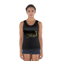 Faith, Trust, and a Little Pixie Dust in Black/Gold Tank Top