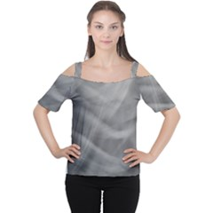Gray Fog Women s Cutout Shoulder Tee