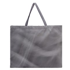 Gray Fog Zipper Large Tote Bag