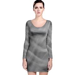 Gray Fog Long Sleeve Velvet Bodycon Dress