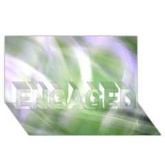 Green And Purple Fog Engaged 3d Greeting Card (8x4)