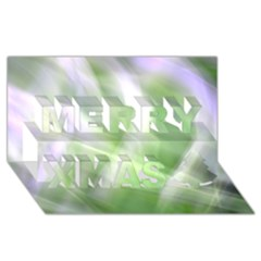Green And Purple Fog Merry Xmas 3d Greeting Card (8x4)