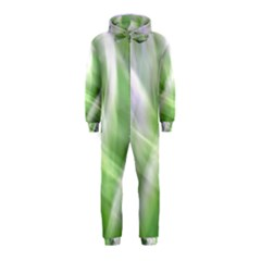Green And Purple Fog Hooded Jumpsuit (kids)