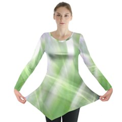 Green and Purple Fog Long Sleeve Tunic