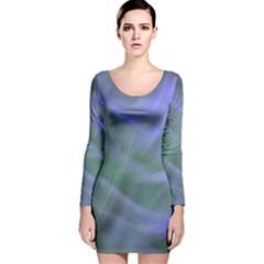 Purple Fog Long Sleeve Velvet Bodycon Dress