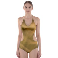 Brown Fog Cut-Out One Piece Swimsuit