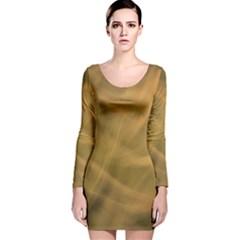 Brown Fog Long Sleeve Velvet Bodycon Dress