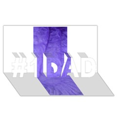 Purple Modern Leaf #1 Dad 3d Greeting Card (8x4)