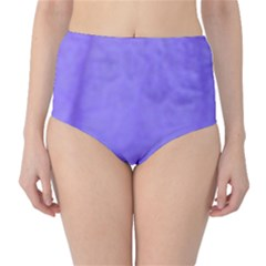 Purple Modern Leaf High Waist Bikini Bottoms
