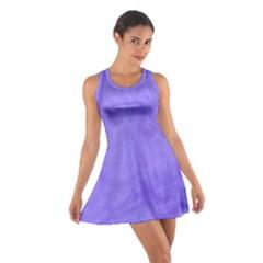 Purple Modern Leaf Racerback Dresses
