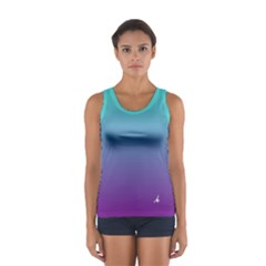 Aerial Ain t Just A Princess In Deep Ombre Tank Top