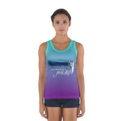 Faith, Trust, and a Little Pixie Dust in Deep Ombre Tank Top