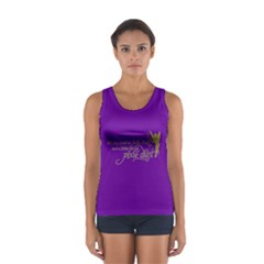 Faith, Trust, And A Little Pixie Dust In Purple Tank Top