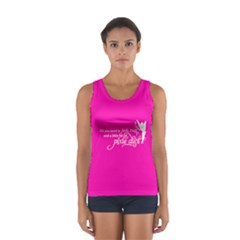 Faith, Trust, and a Little Pixie Dust in Hot Pink Tank Top