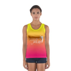 Faith, Trust, And A Little Pixie Dust In Sunset Ombre Tank Top