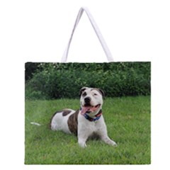 Pit Bull T Bone Zipper Large Tote Bag