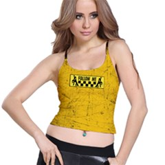 Used Look Follow Me Dancer  Spaghetti Strap Bra Top