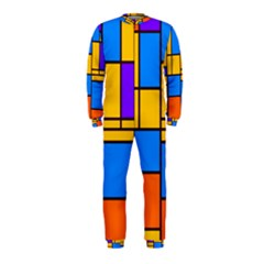 Retro Colors Rectangles And Squares Onepiece Jumpsuit (kids)