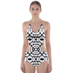 30216003003004 Taiwan Cut Out One Piece Swimsuit