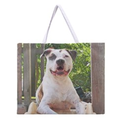 Pit Bull T-Bone s Tree House Zipper Large Tote Bag