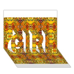 Roof555 GIRL 3D Greeting Card (7x5)