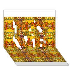 Roof555 LOVE 3D Greeting Card (7x5)