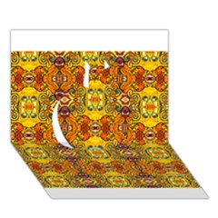 Roof555 Apple 3D Greeting Card (7x5)
