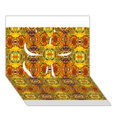 Roof555 Clover 3d Greeting Card (7x5)