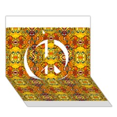 Roof555 Peace Sign 3D Greeting Card (7x5)