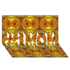 Roof555 #1 Mom 3d Greeting Cards (8x4)