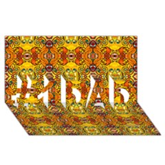 Roof555 #1 DAD 3D Greeting Card (8x4)