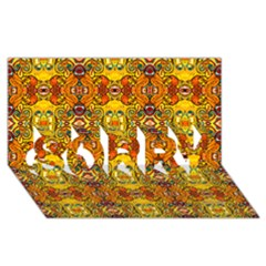 Roof555 SORRY 3D Greeting Card (8x4)