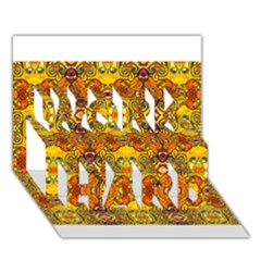 Roof555 Work Hard 3d Greeting Card (7x5)