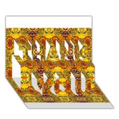 Roof555 THANK YOU 3D Greeting Card (7x5)