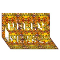 Roof555 Merry Xmas 3D Greeting Card (8x4)