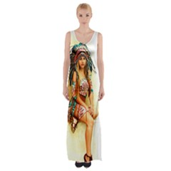 Indian 15 Maxi Thigh Split Dress