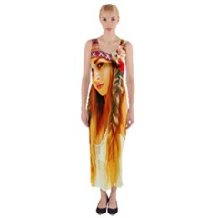Indian 26 Fitted Maxi Dress