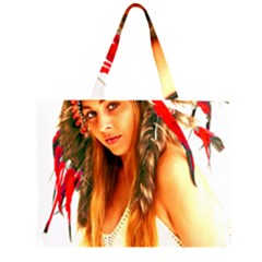 Indian 25 Zipper Large Tote Bag