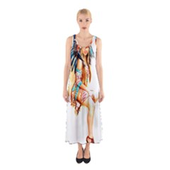 Indian 18 Full Print Maxi Dress